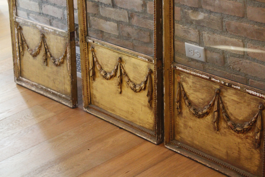 Antique French Barbola Dressing Screen Early 1900s-