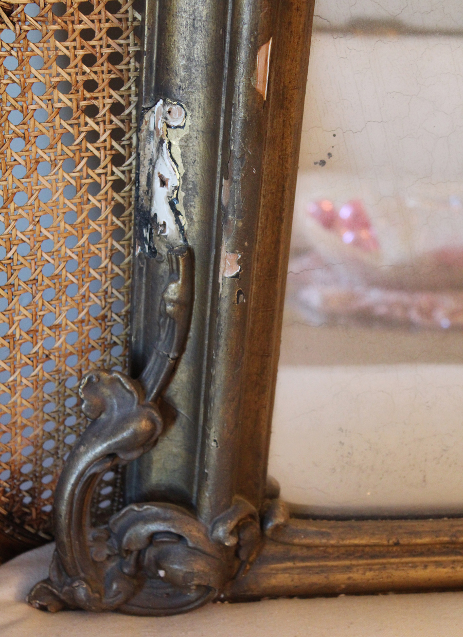 Antique French Gorgeous Mantle Mirror Early 1900s-