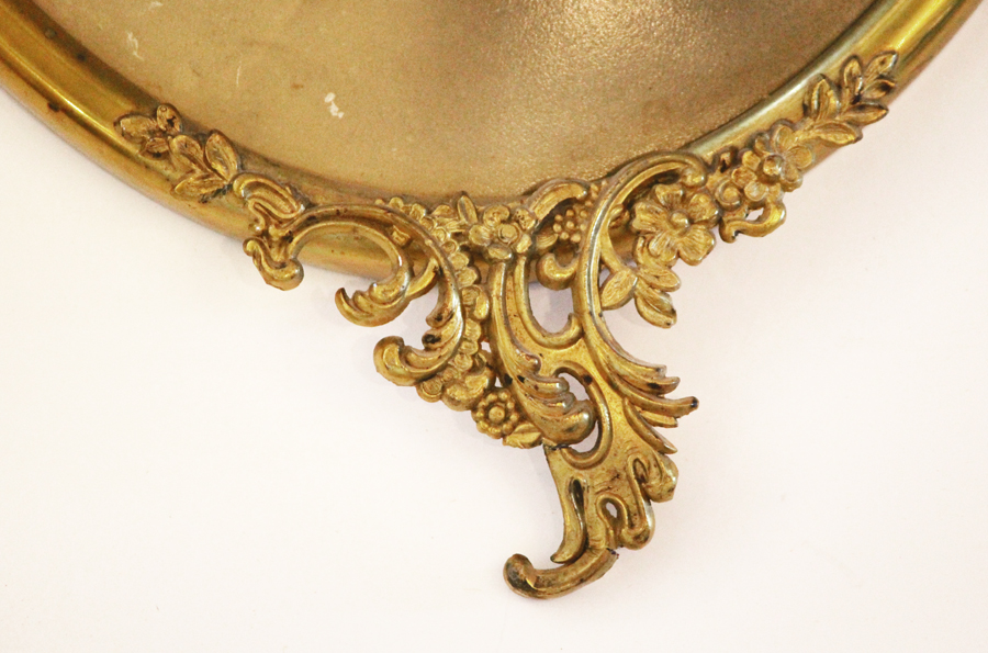 Pair Ornate Metal Oval Frames Early 1900s-