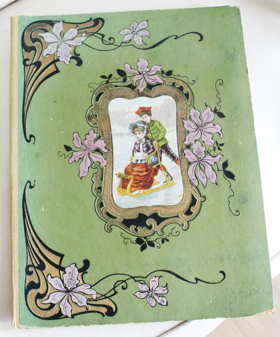 Victorian Album ScrapBook Antique Early 1900s-