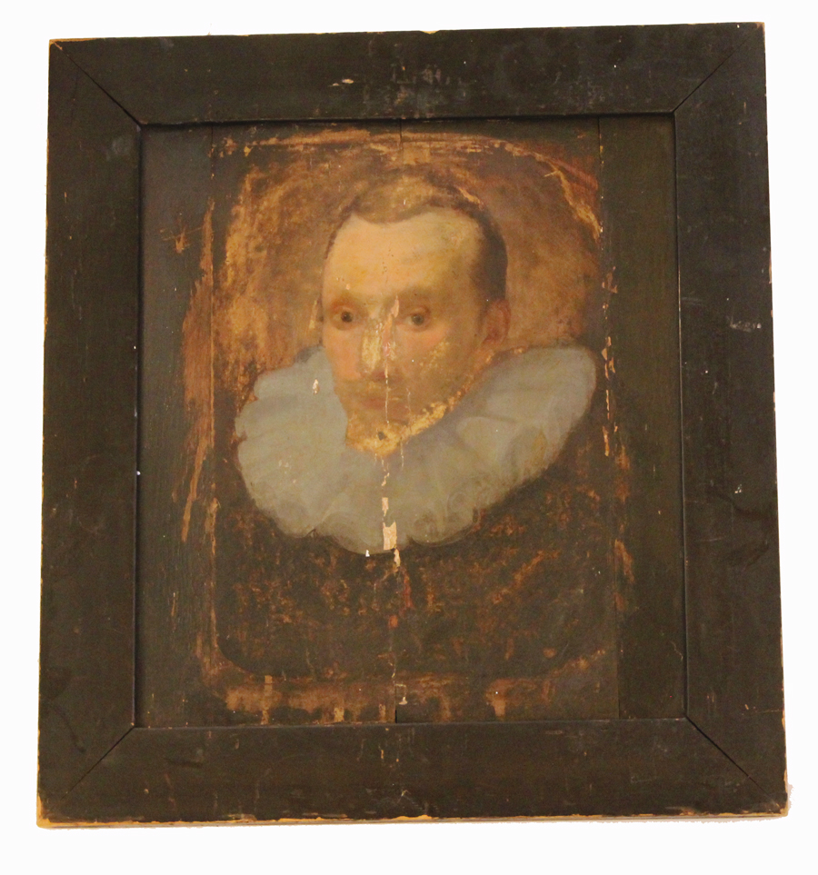Antique Early 1800s French Painting on Board Aristocrat/Royalty-
