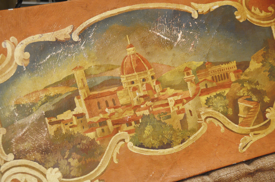 Incredible Early 1900s Architectural European Oil Painting-
