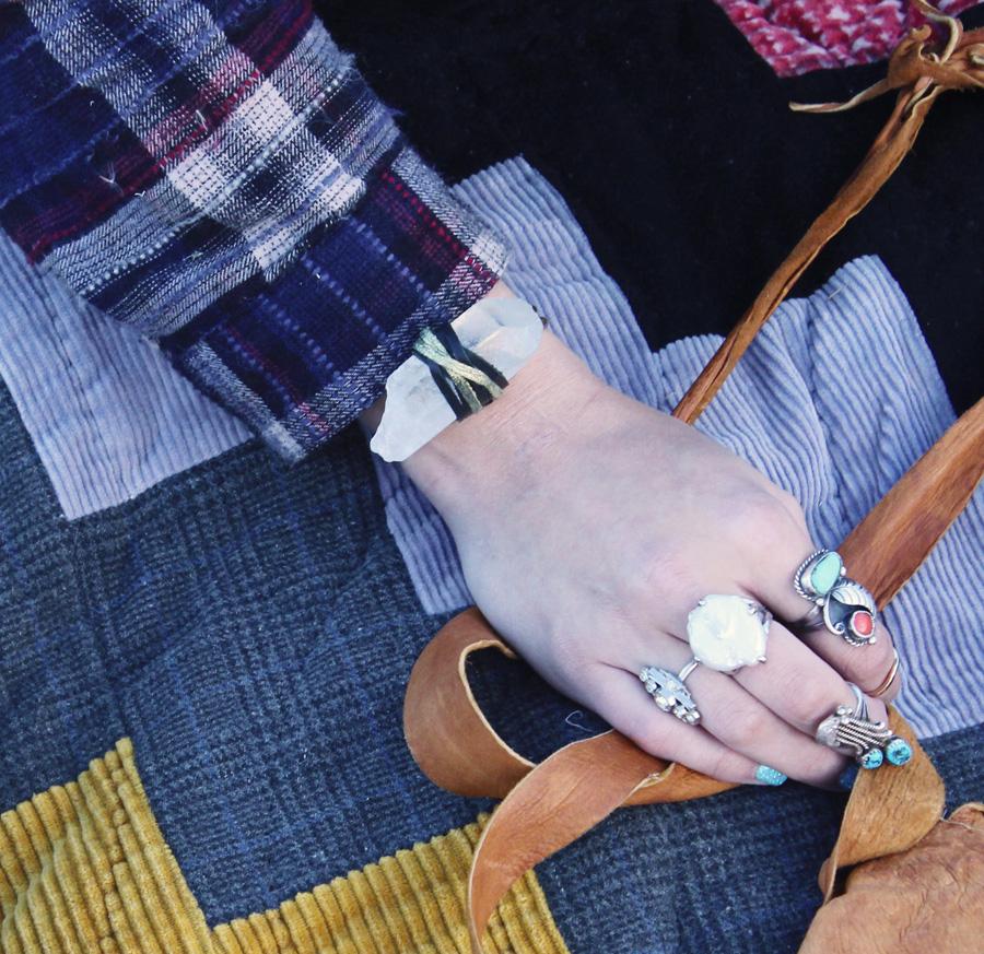Rock Quartz Crystal Bracelet- Rock It Gypsy Designs-