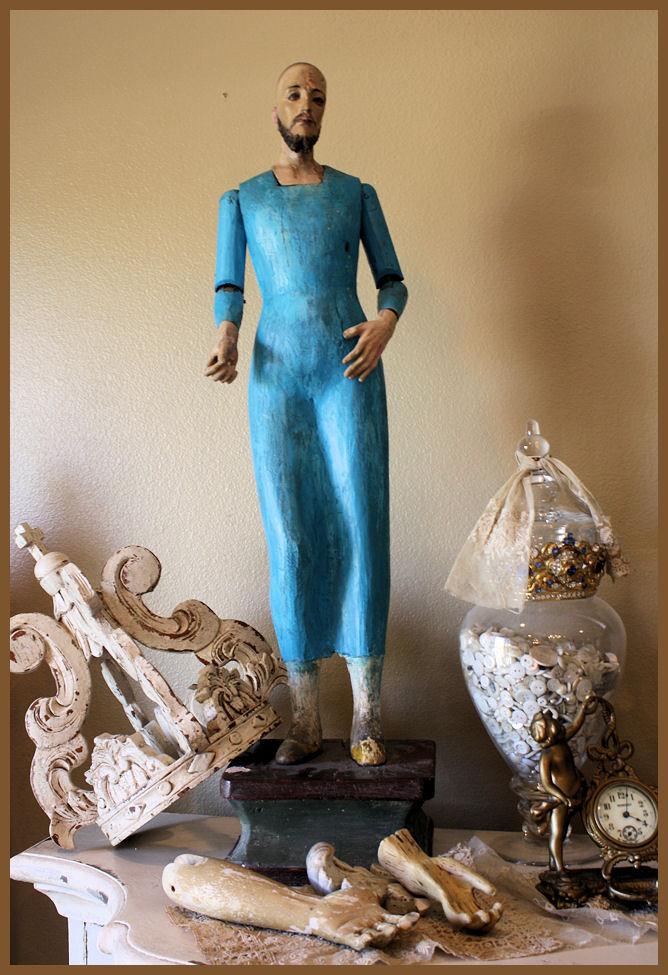 Antique 1800s St Peter Santos Original Authentic Gorgeous-