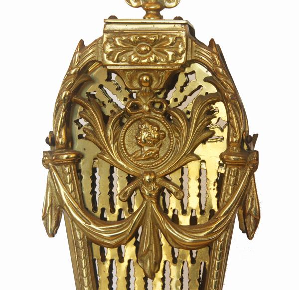 Antique Brass Figural Firescreen Beautiful-