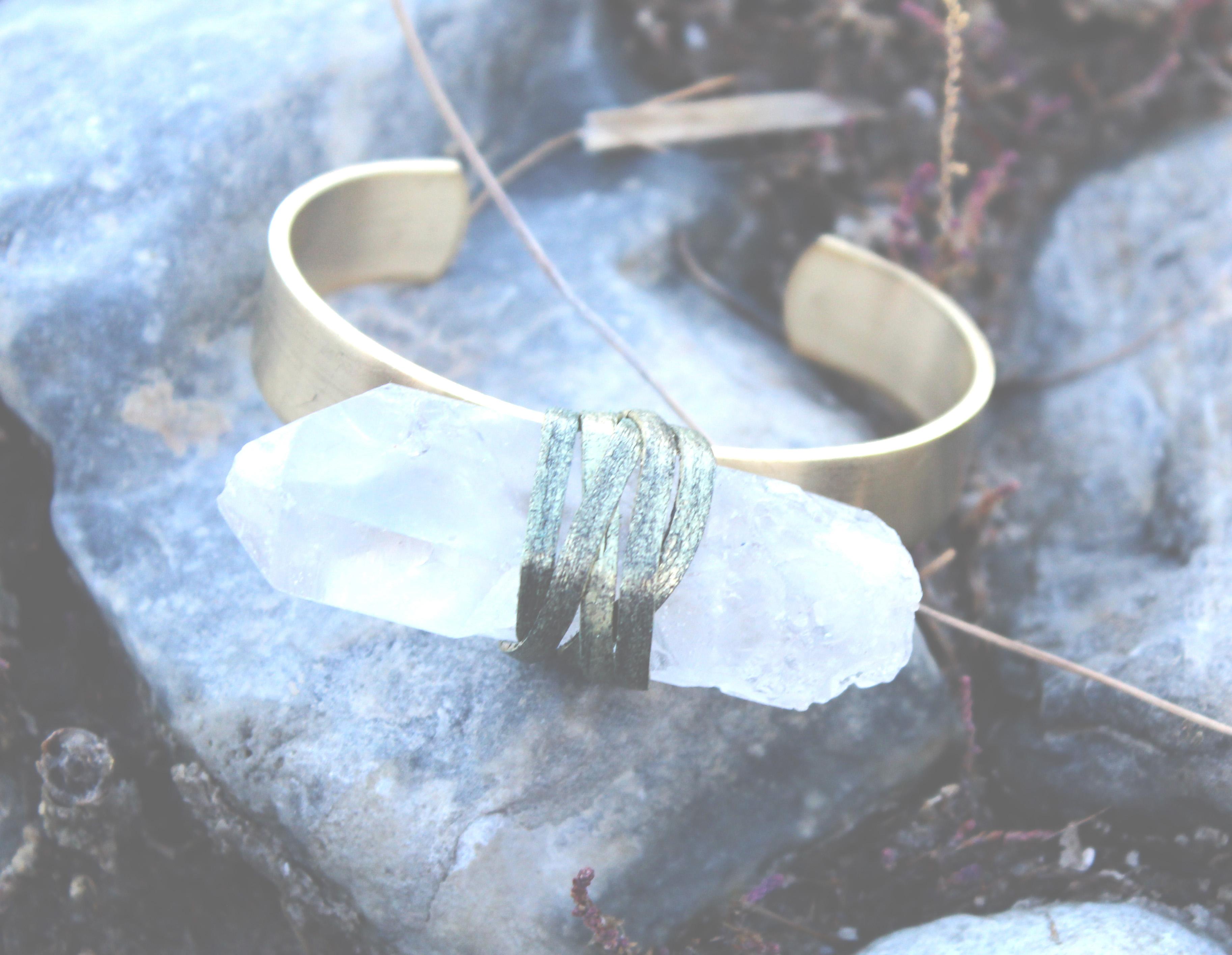 Quartz Crystal Bracelet- Rock It Gypsy Designs-