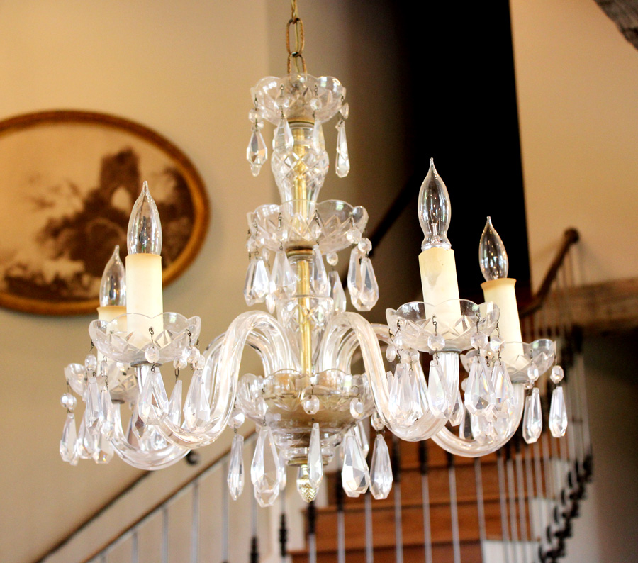 Antique Crystal Chandelier Maria Teresa Style Gorgeous-French, Lighting, Vintage, Wall Sconce, Crystal, Gilt, Farmhouse, Farm, House, Decor