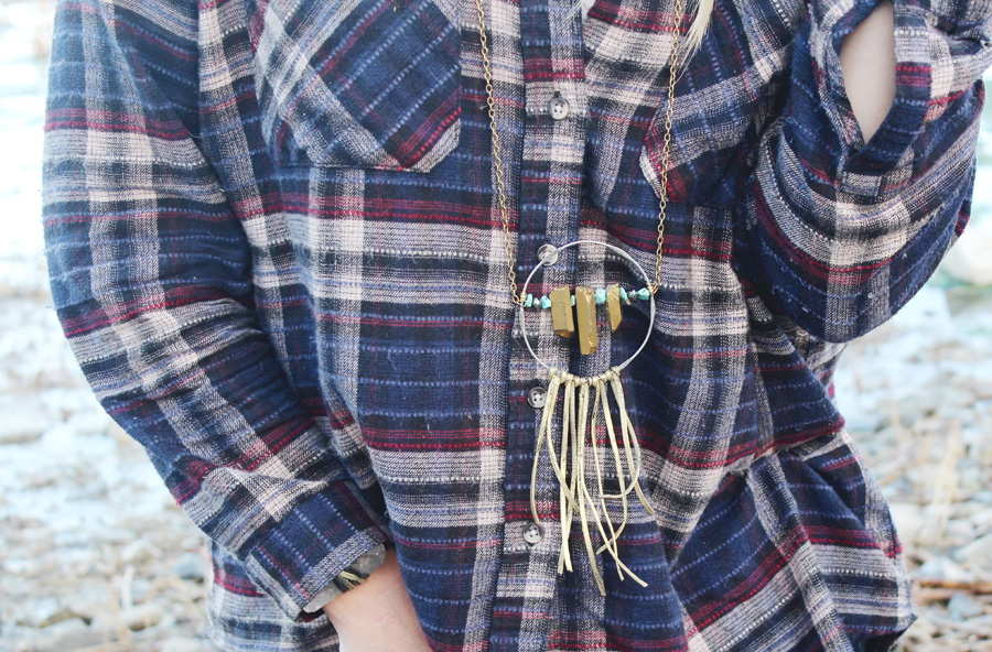 Dream Catcher-One of a Kind Necklace-Rock It Gypsy Designs.-