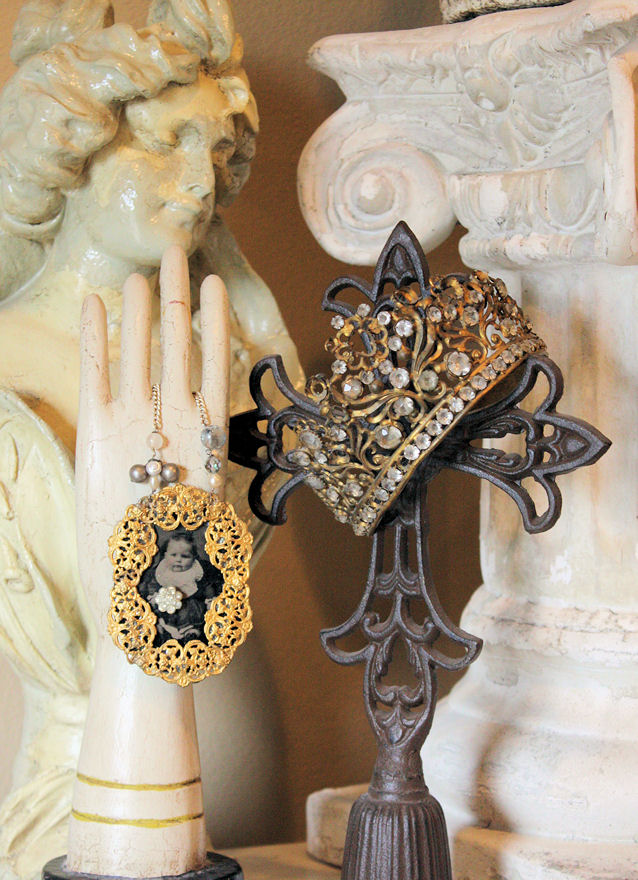 Late 1800s Rare French Jeweled Crown Gorgeous Patina-