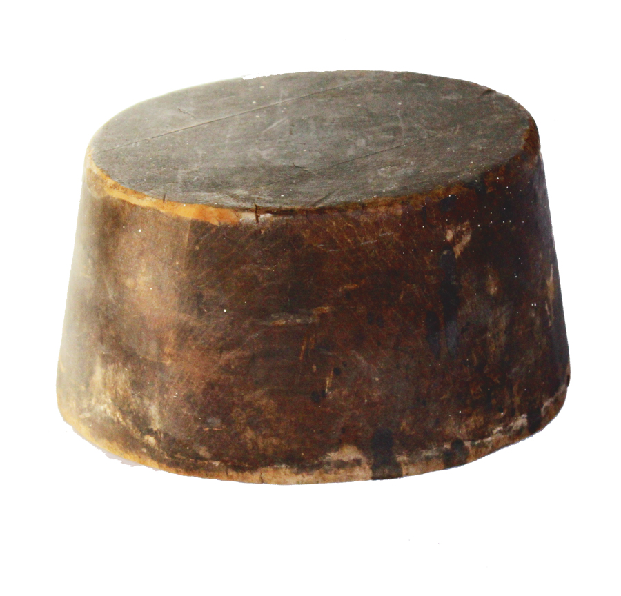 French Antique Hat Makers Wood Block/Form-