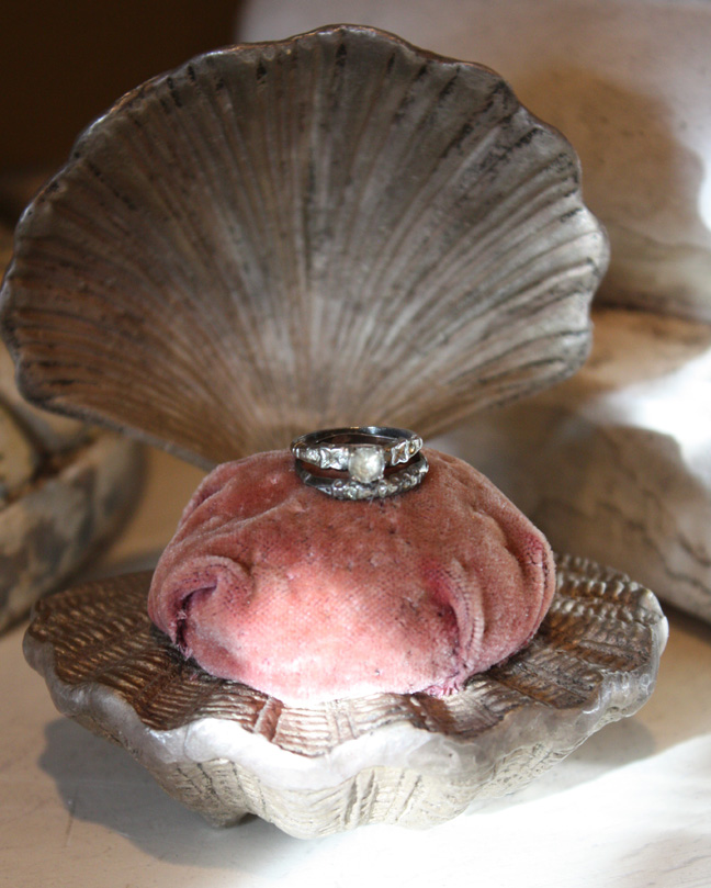 Antique Paste Stone Sterling Silver Ring Set-