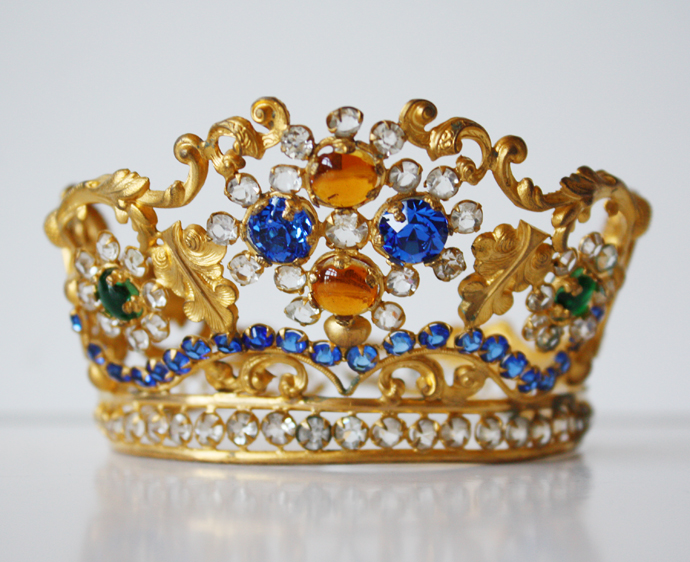 Antique French Tiara/Crown Jeweled Incredible 1900s-