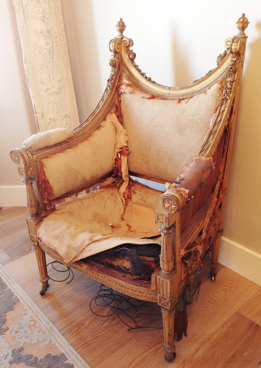 Breathtaking Hand Carved Canape & Chair Antique French 1800s-