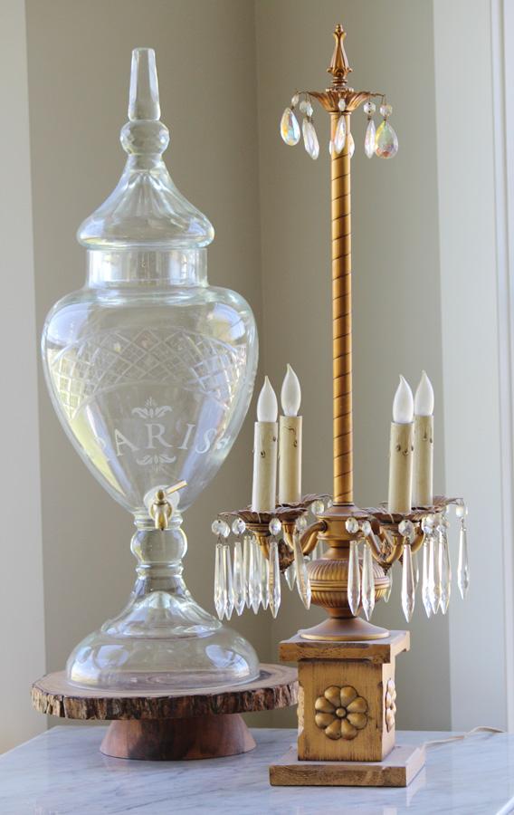 Antique Italian Gilt Girandole Table Chandelier-Antique, Lamp, Chandelier, Girandole, Tole, Paladio,