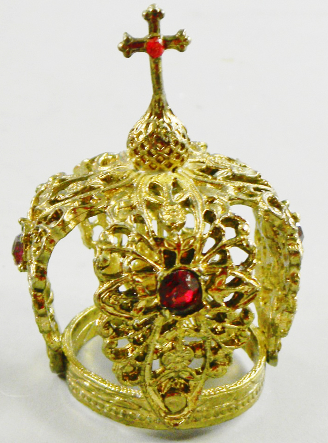 Antique Beautiful Gilt w/Paste Stones French Crown-