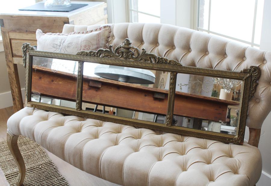 Antique French Tri-Mirror Gorgeous Details-