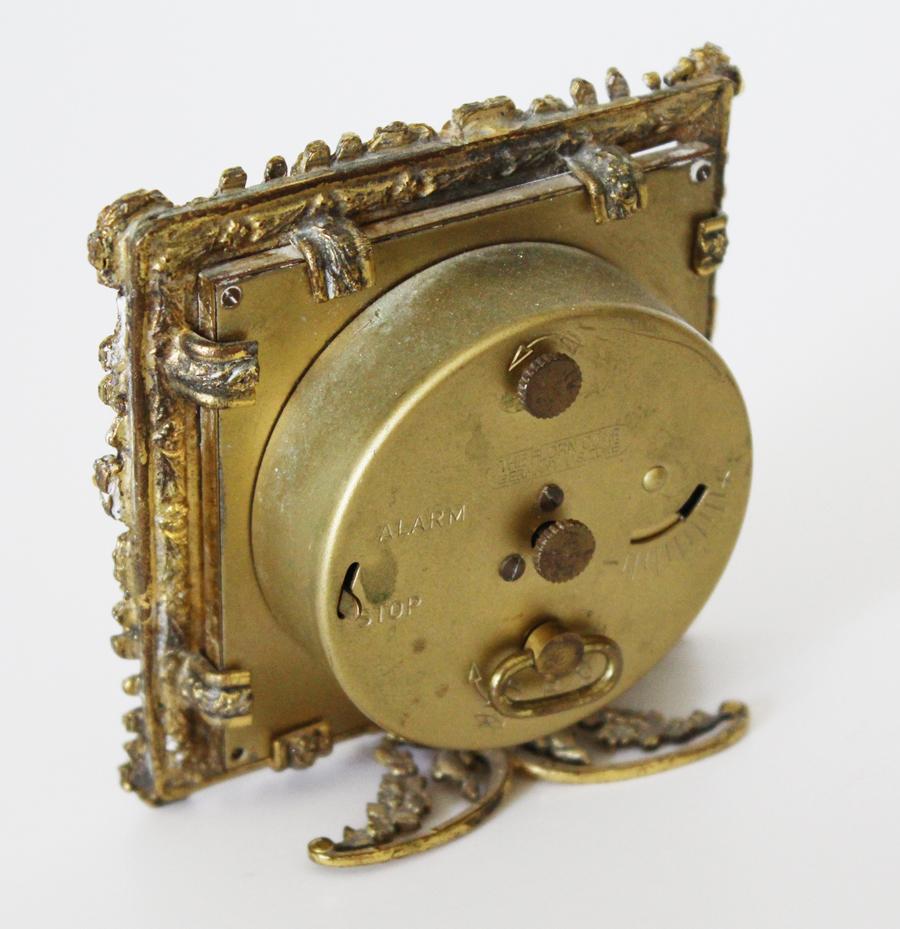 Antique Rare Rhinestone & Pearls Jeweled Globe Alarm Clock-Antique Rare Rhinestone & Pearls Jeweled Globe Alarm Clock