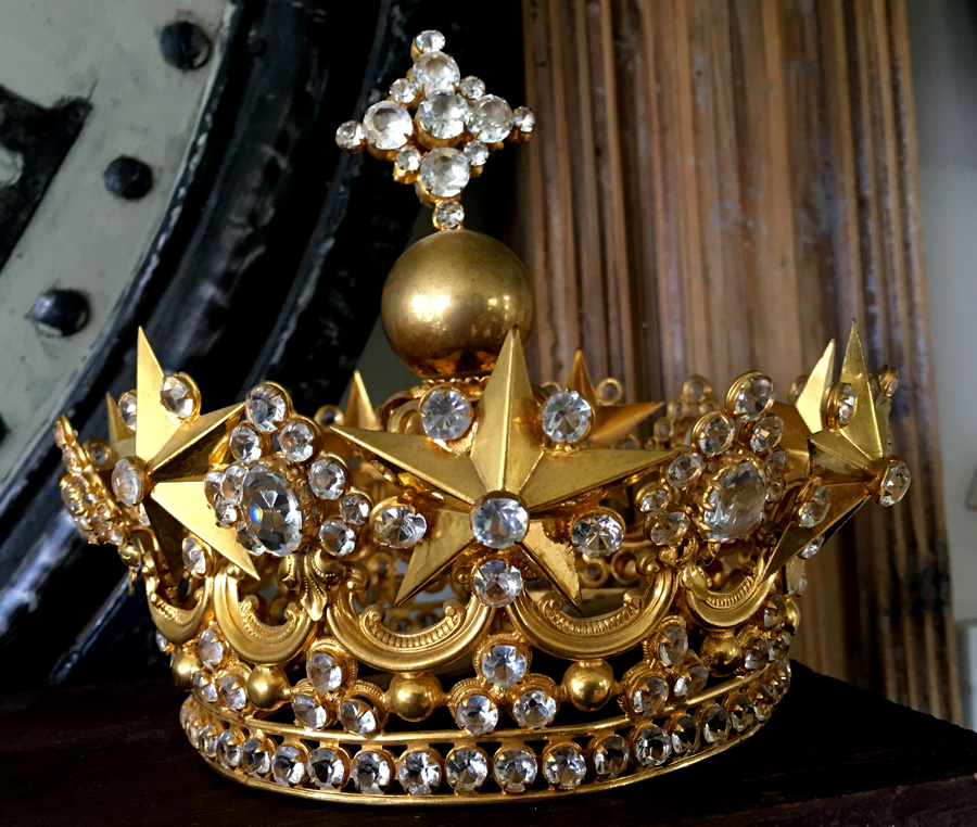 Incredible Antique French Crown Simply Stunning-