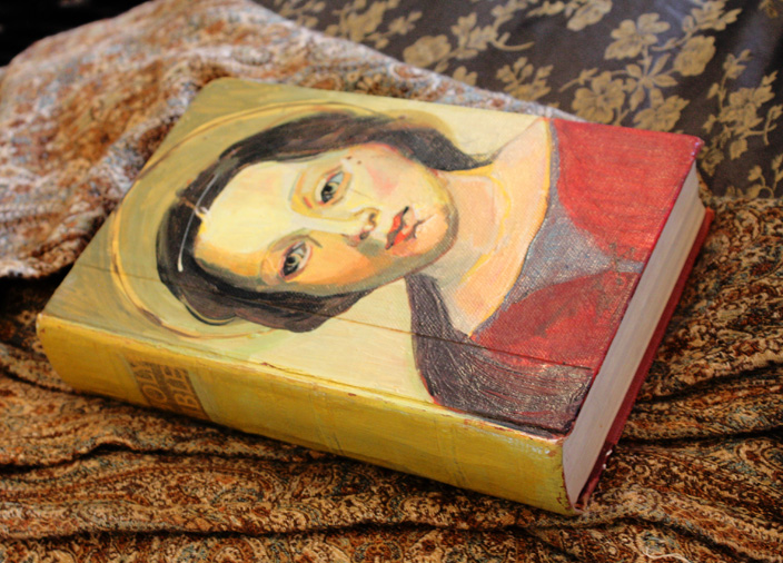 Vintage Upcycled HandPainted Bible-