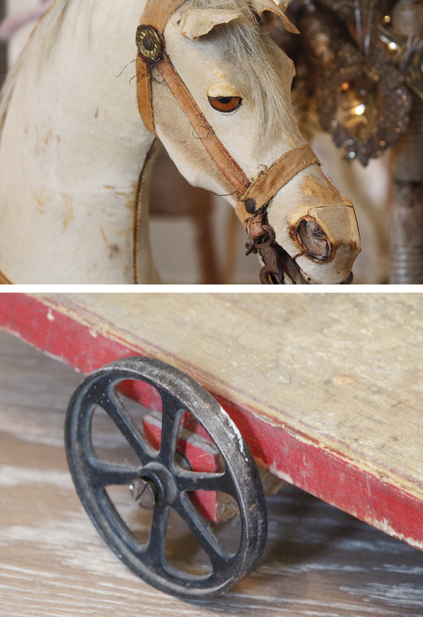 Antique Horse Early 1900s Real Horse Hair-