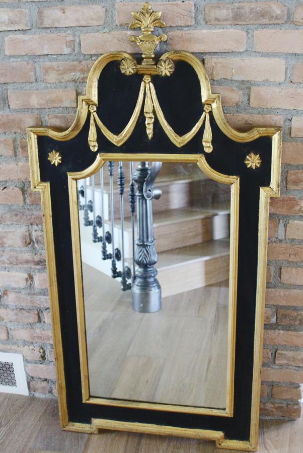 Antique Italian Carved Mirror Gilt & Hollywood Regency-Antique Italian Carved Mirror Gilt & Hollywood Regency