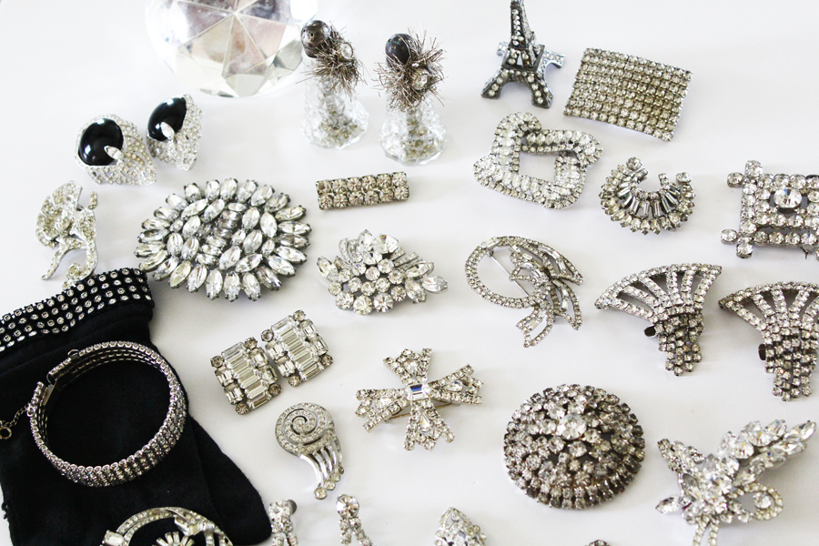 Incredible! Huge Collection of Antique Rhinestone Jewelry-Incredible! Huge Collection of Antique Rhinestone Jewelry
