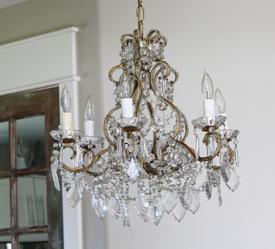 Antique Italian Beaded Chandelier Incredible-