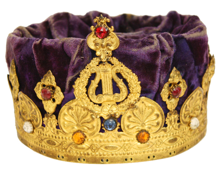 Incredible Extremely Rare Knight Templar Antique Crown-