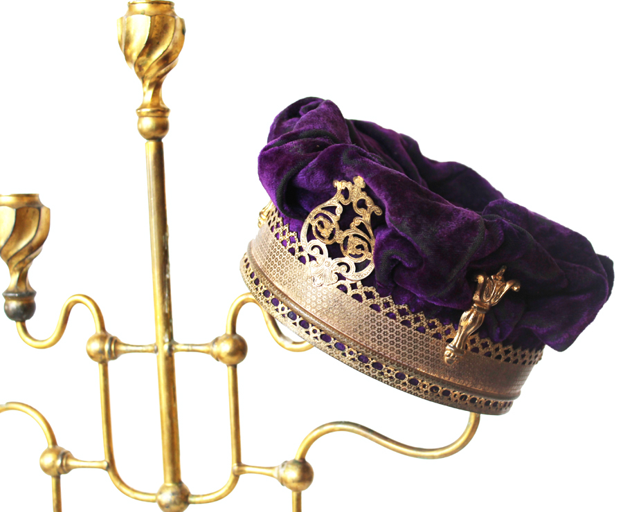 Antique Old French Theater Kings Crown-