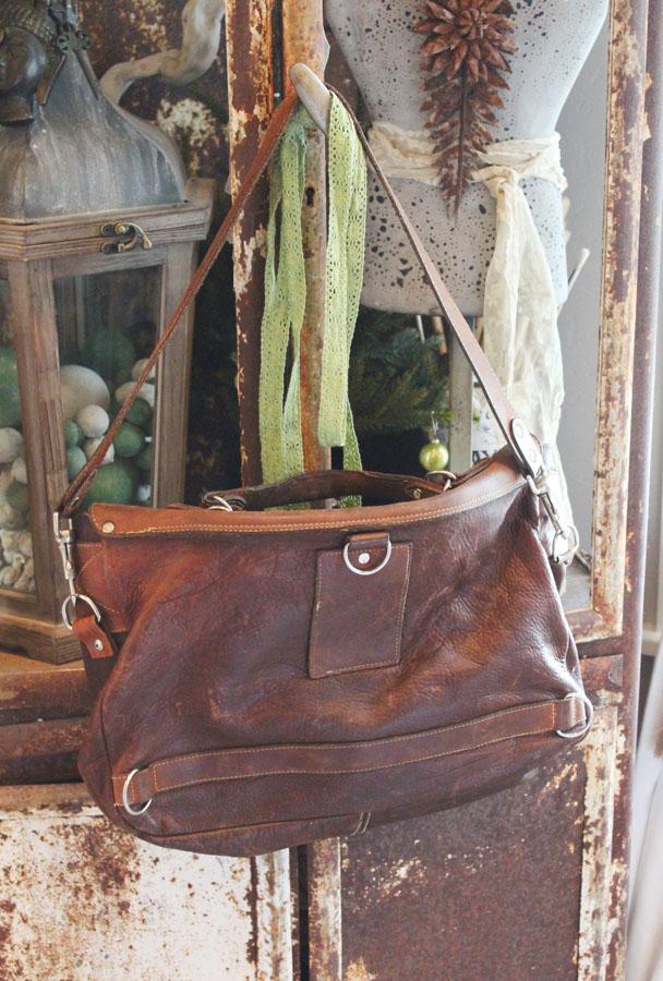 Vintage Worn in Gorgeous Leather Satchel-