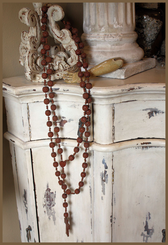 Late 1800s Rare Monk Beads Lourdes France-