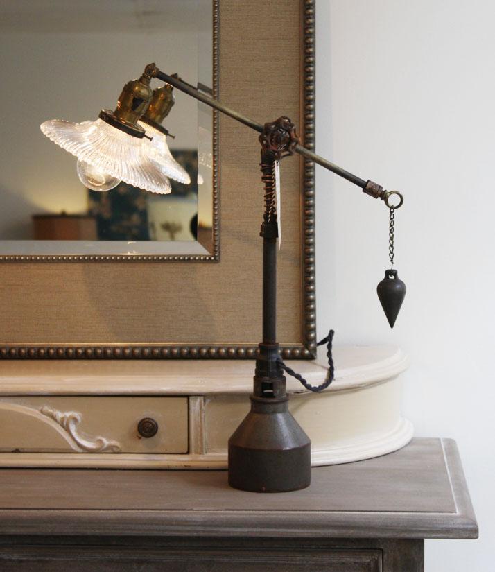1 of a Kind Designer Lamp Hand Made Antique Parts-restoration hardware, pottery barn, steam punk, vintage, metal, hardware, lamp,