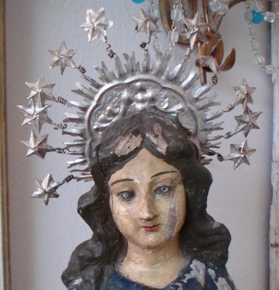 Beautiful Antique French Silver Crown Corona Tiara-