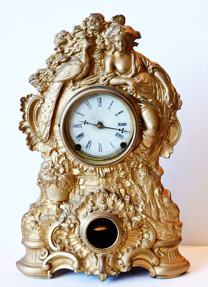 N Muller Victorian Clock Working Condition Gorgeous-