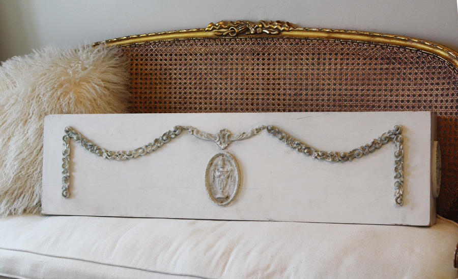 French Antique Mantel Shelf/Valance Architectural Gorgeous-
