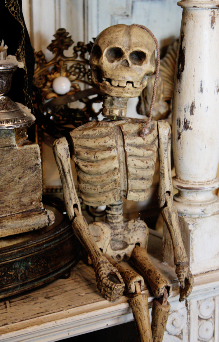 Antique Marionette Skeleton Puppet 19th C.-