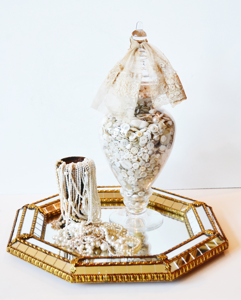 Vintage Octogon Gilt Mirrored Mirror-