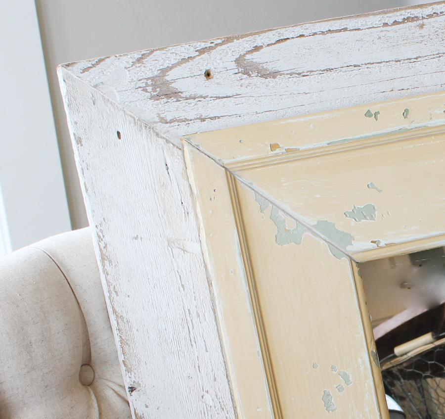 Gorgeous Antique Molding Square Mirror-