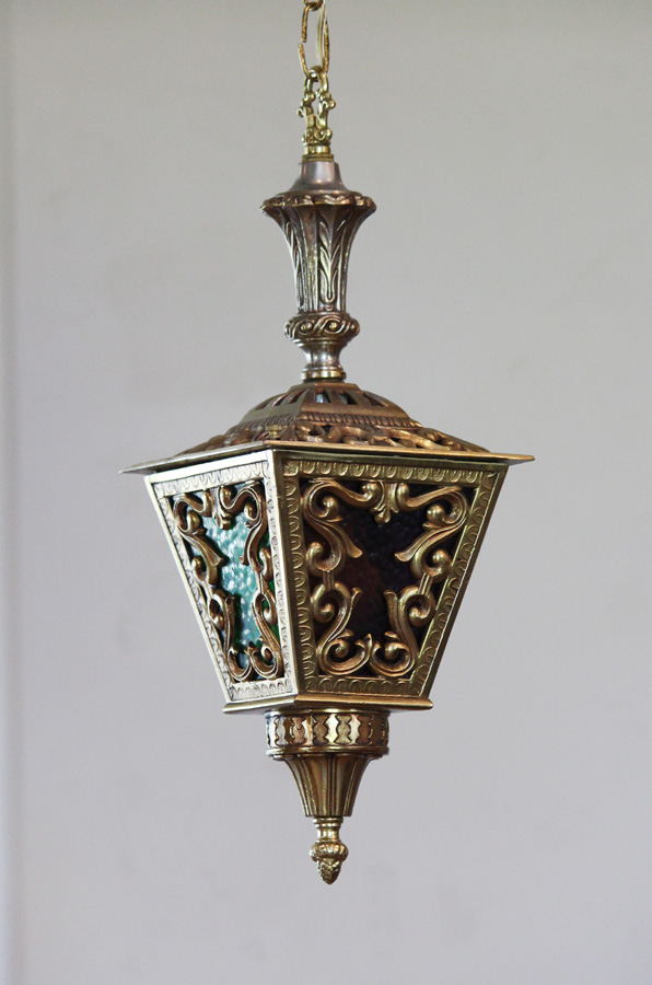 Antique Brass Hanging Lantern Light-