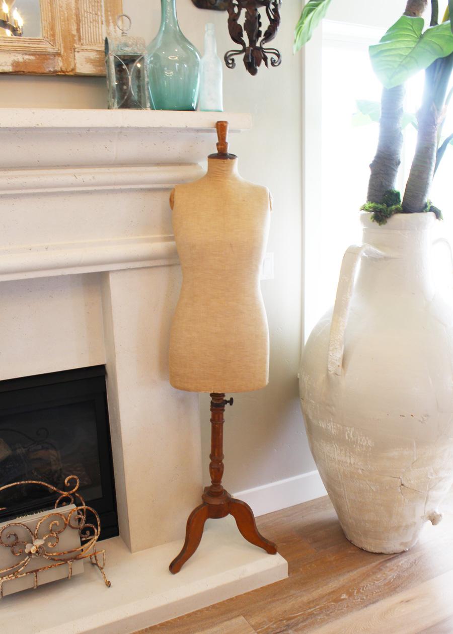 Antique French Linen Mannequin DressForm-