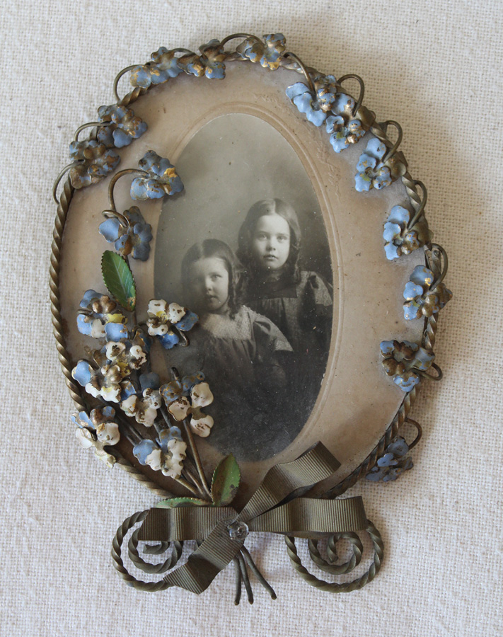 Rare Victorian 1800s French Tole Floral Picture Frames-