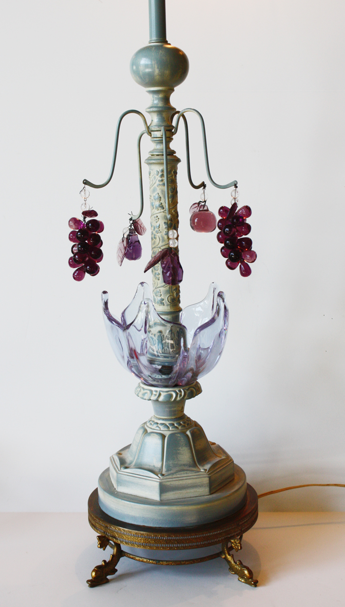 Pair Rare Italian Murano Art Glass Table Lamps-