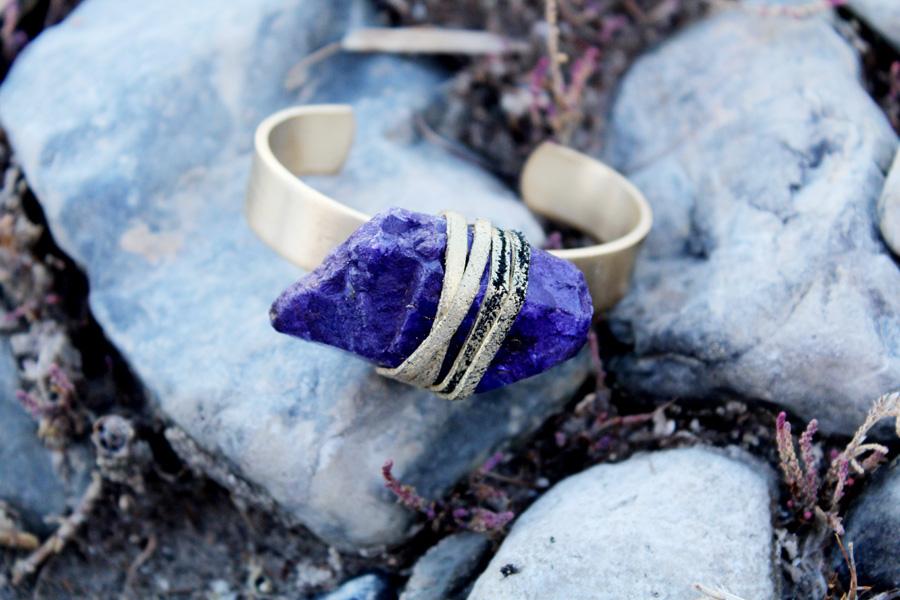 Purple Quartz Crystal Bracelet- Rock It Gypsy Designs-