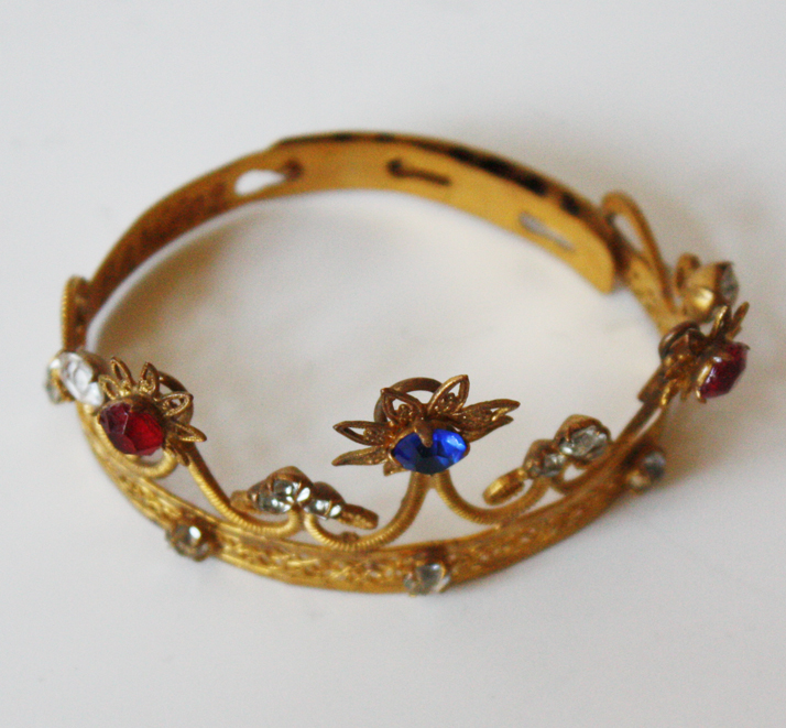 Rare Jeweled Antique French Crown Late 1800s-