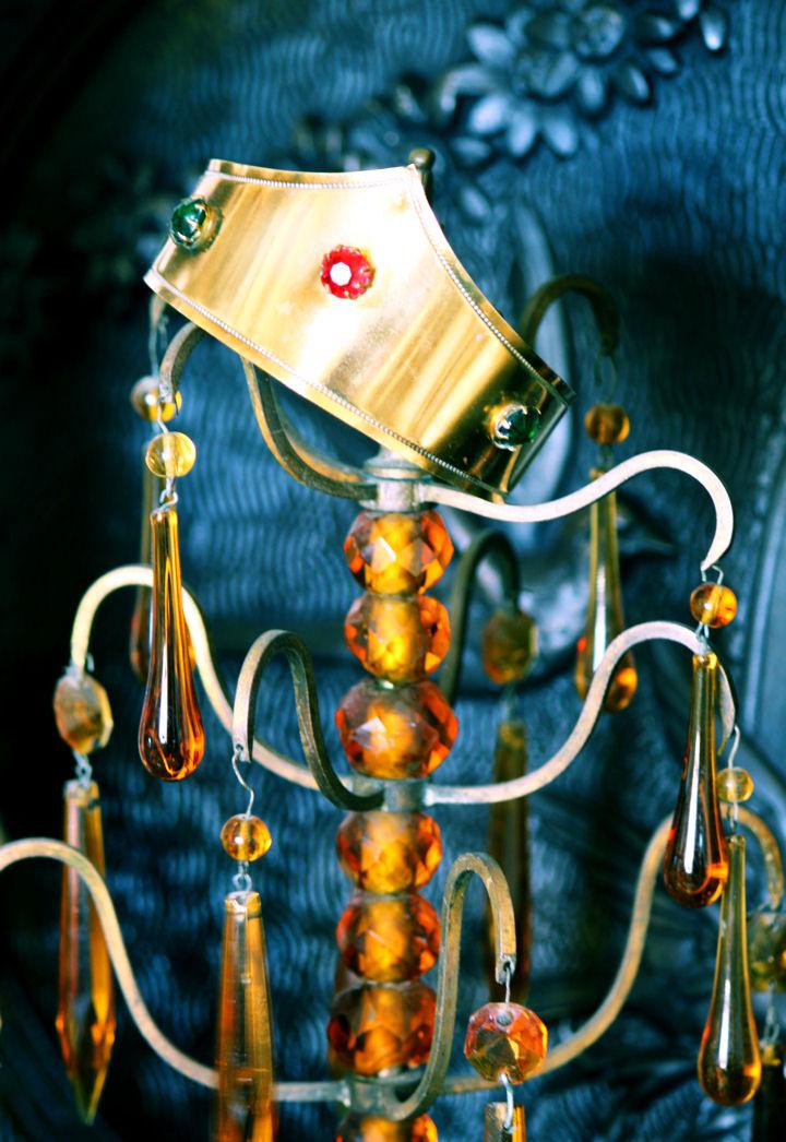 1920s French Santos Jeweled/Brass Crown Beautiful-