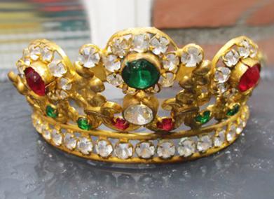 French Late 1800s Gilt Ormolu Crown-