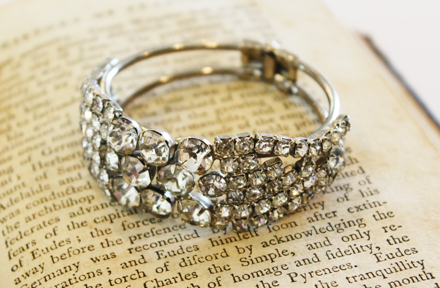 Antique Rhinestone Gorgeous Bracelet-