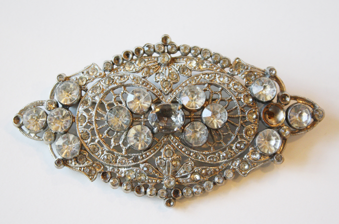 Starlight Vintage Paste Stone Brooch/Pin-
