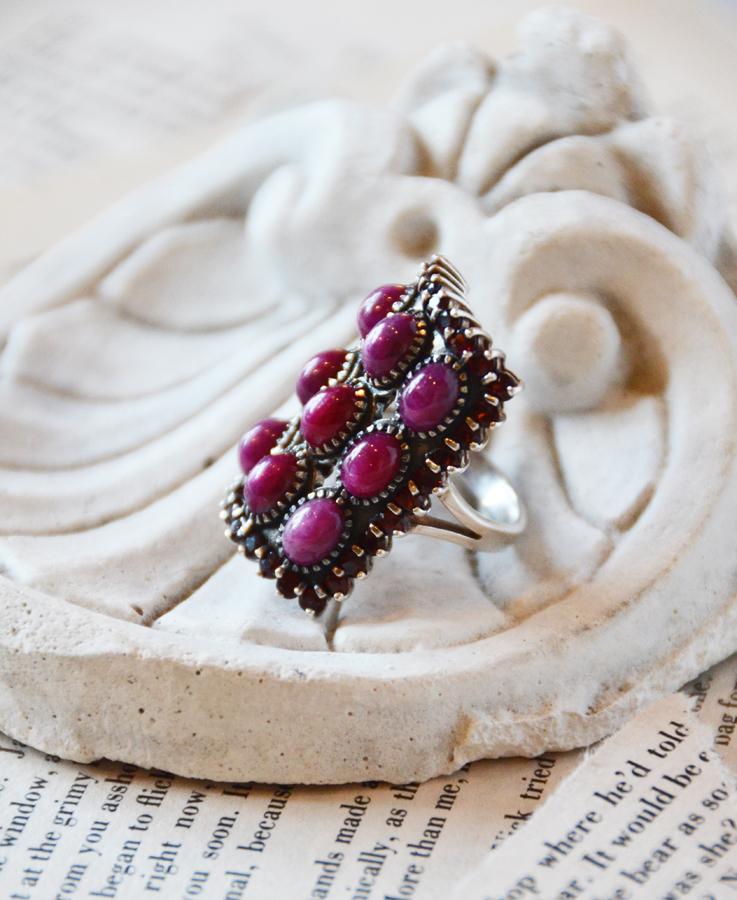 Incredible Large Ruby & Star Ruby Vintage Ring-