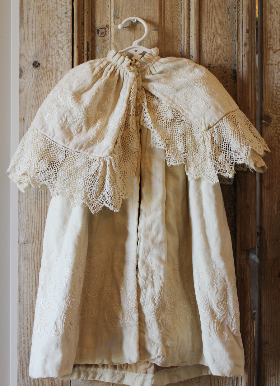 Gorgeous Antique French Christening Blessing Overcoat-